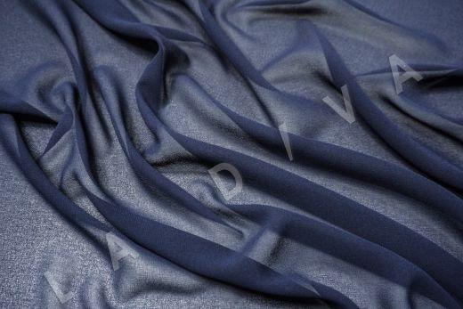 Креповый шифон темно-синего цвета