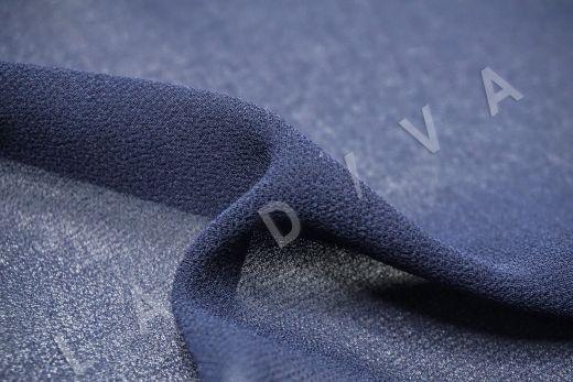 Креповый шифон темно-синего цвета рис-2