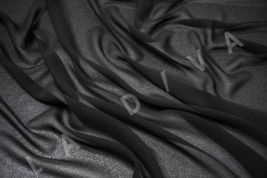 Креповый шифон черного цвета