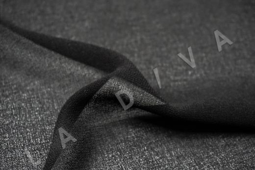 Креповый шифон черного цвета рис-2