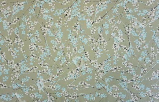 шелковый крепдешин с цветочным принтом рис-2