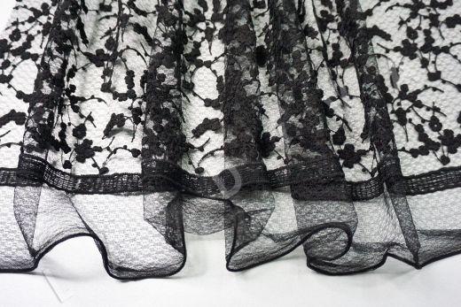 вышивка на сетке с цветочным орнаментом черного цвета рис-6