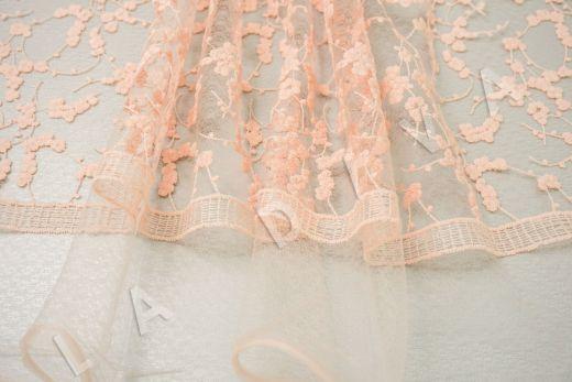 вышивка на сетке с цветочным орнаментом розового цвета рис-6