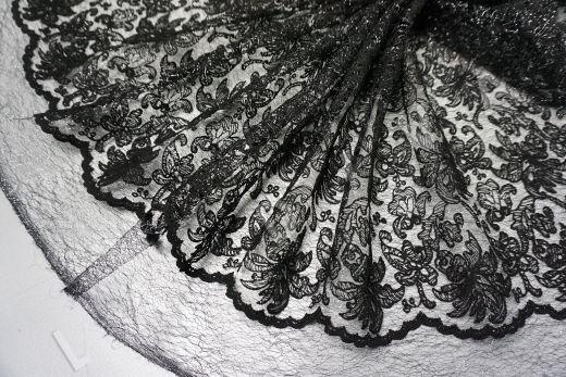 вышивка на сетке с цветочным орнаментом черного цвета рис-5