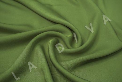 Вискоза плательно-костюмная зеленого цвета
