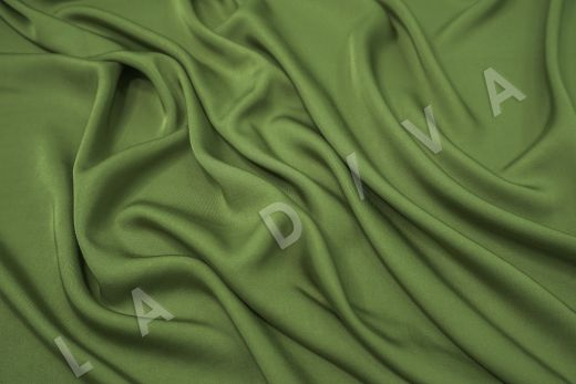 Вискоза плательно-костюмная зеленого цвета рис-2