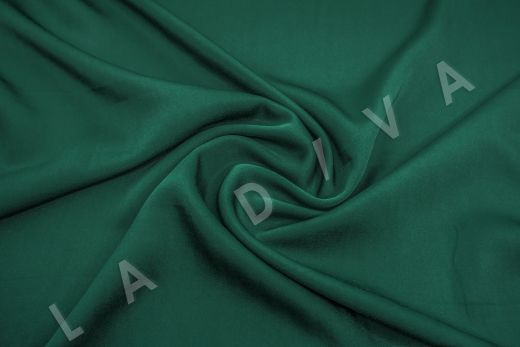 Вискоза плательно-костюмная изумрудного цвета