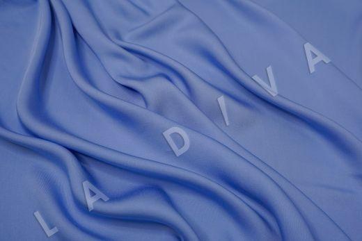 Вискоза плательно-костюмная голубого цвета рис-2