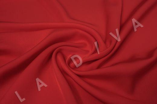 Вискоза плательно-костюмная красного цвета