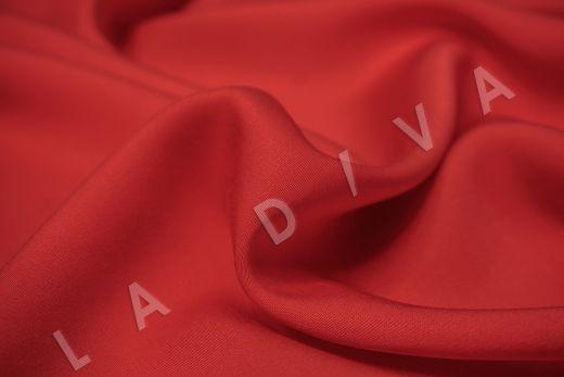 Вискоза плательно-костюмная красного цвета рис-3