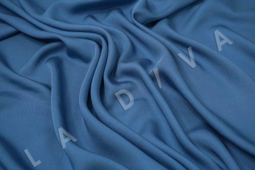 Вискоза плательно-костюмная синего цвета рис-2