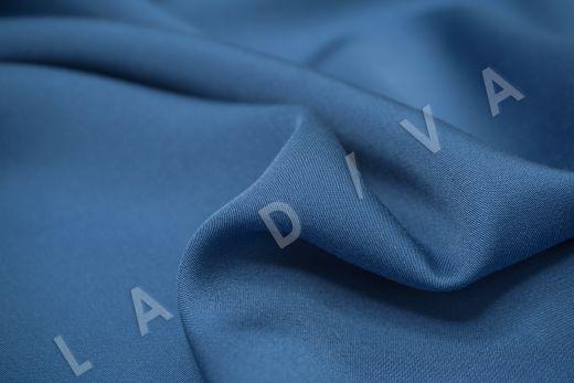 Вискоза плательно-костюмная синего цвета рис-3