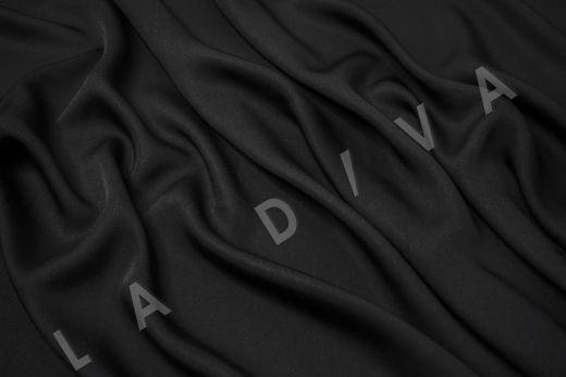 Вискоза плательно-костюмная чёрного цвета