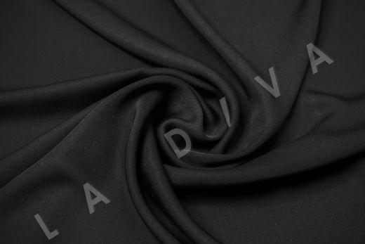 Вискоза плательно-костюмная чёрного цвета рис-2