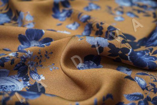 Вискоза плательная с цветочным принтом рис-3