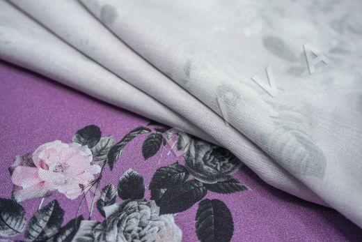 Вискоза плательная с цветочным принтом рис-4