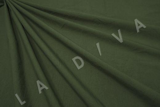 вареный (стиранный) хлопок темно-зеленого цвета