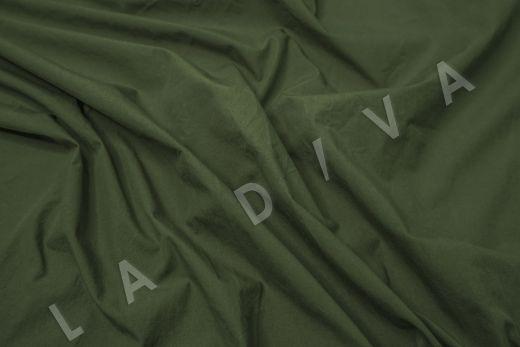 вареный (стиранный) хлопок темно-зеленого цвета рис-3