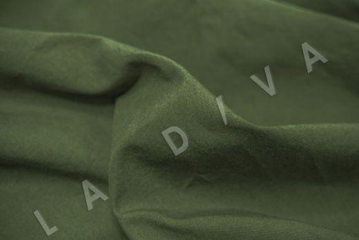 вареный (стиранный) хлопок темно-зеленого цвета рис-4