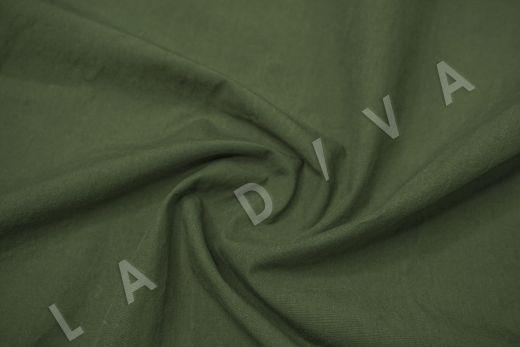 вареный (стиранный) хлопок темно-зеленого цвета рис-2