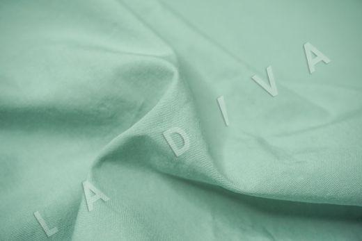 вареный (стиранный) хлопок бирюзового цвета рис-4