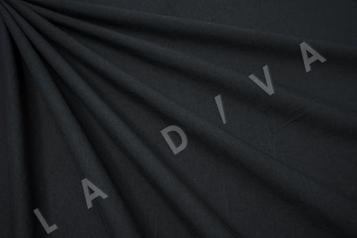 вареный (стиранный) хлопок черного цвета