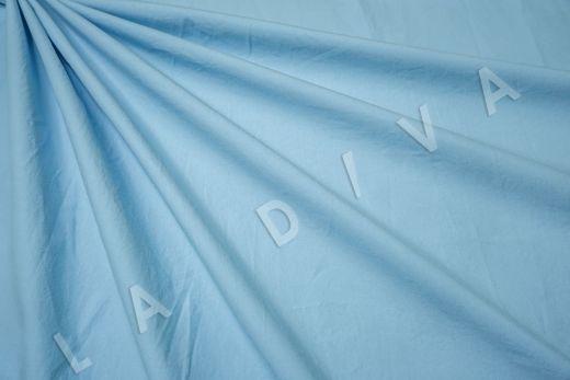 вареный (стиранный) хлопок голубого цвета