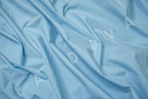 вареный (стиранный) хлопок голубого цвета рис-3