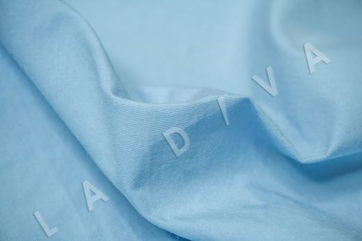 вареный (стиранный) хлопок голубого цвета рис-4