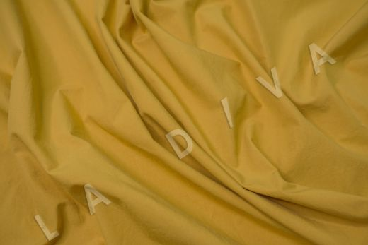 вареный (стиранный) хлопок горчичного цвета рис-2