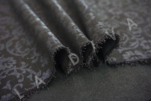 костюмный джинс с принтом на черном фоне рис-3