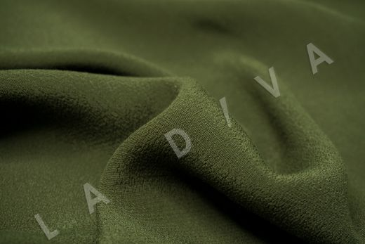 Креповая вискоза цвет хаки рис-2
