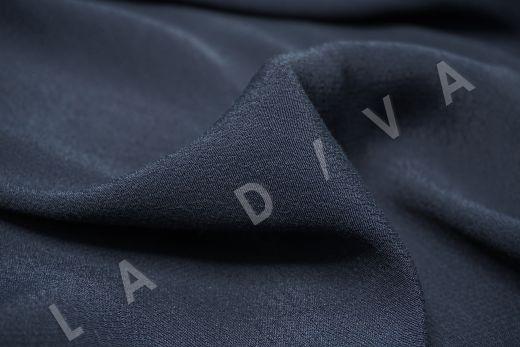 Креповая вискоза темно-синего цвета рис-2