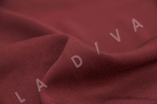 костюмная вискоза твилового плетения бордового цвета рис-3