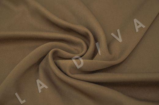 костюмная вискоза твилового плетения коричневого цвета