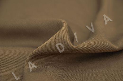 костюмная вискоза твилового плетения коричневого цвета рис-3