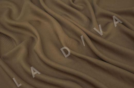 костюмная вискоза твилового плетения коричневого цвета рис-2