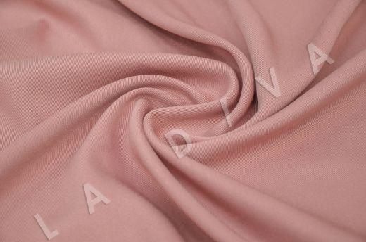 костюмная вискоза твилового плетения цвета пыльная роза