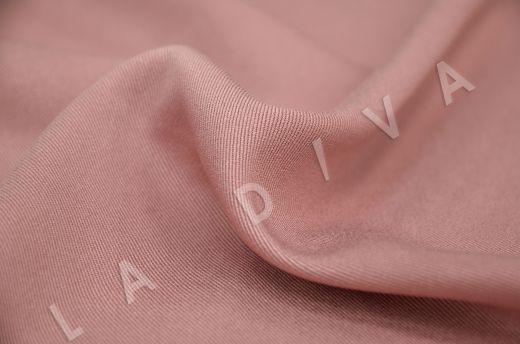 костюмная вискоза твилового плетения цвета пыльная роза рис-3