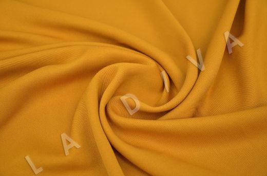 костюмная вискоза твилового плетения желтого цвета