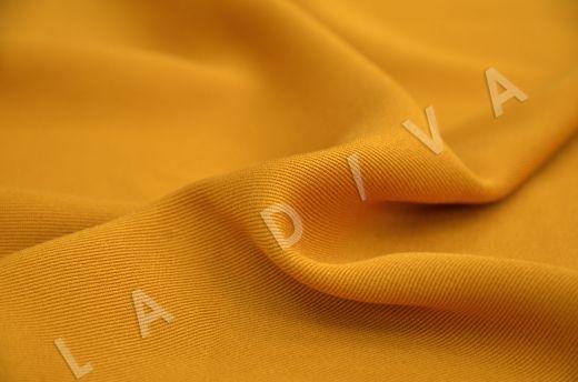 костюмная вискоза твилового плетения желтого цвета рис-3
