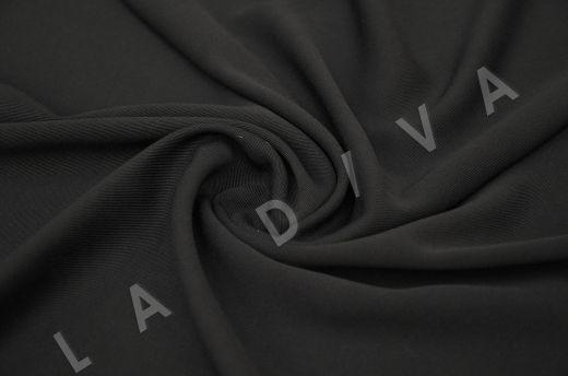 костюмная вискоза твилового плетения черного цвета