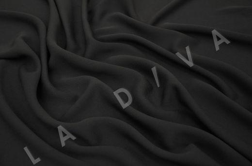 костюмная вискоза твилового плетения черного цвета рис-2