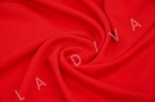 костюмная вискоза твилового плетения ярко-красного цвета