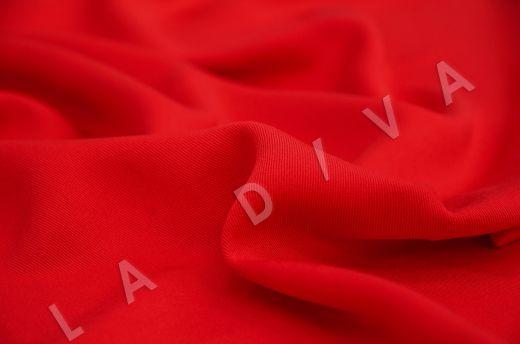 костюмная вискоза твилового плетения ярко-красного цвета рис-3
