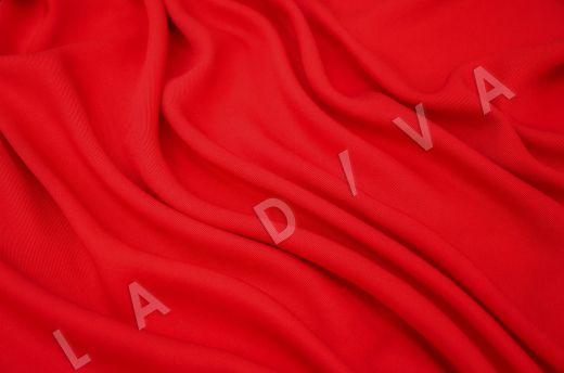 костюмная вискоза твилового плетения ярко-красного цвета рис-2