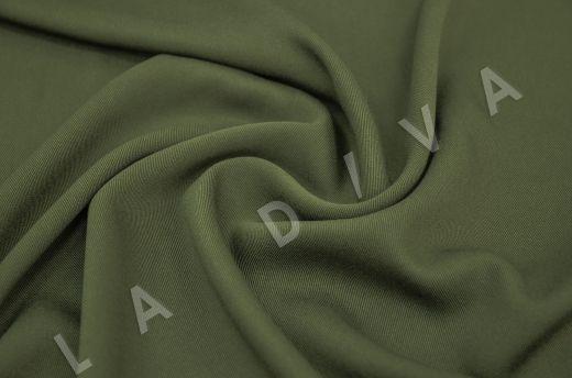 костюмная вискоза твилового плетения темно-зеленого цвета