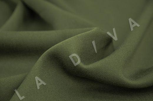 костюмная вискоза твилового плетения темно-зеленого цвета рис-3