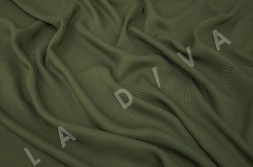 костюмная вискоза твилового плетения темно-зеленого цвета рис-2