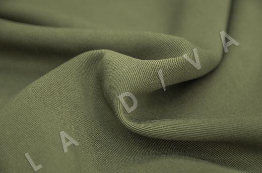 костюмная вискоза твилового плетения зеленого цвета рис-3